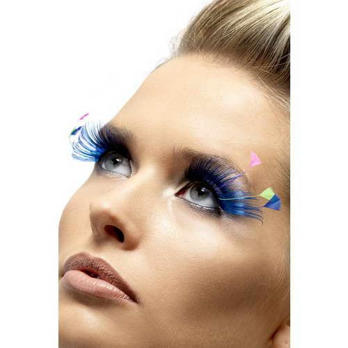 Feder Augenwimpern - Blau*