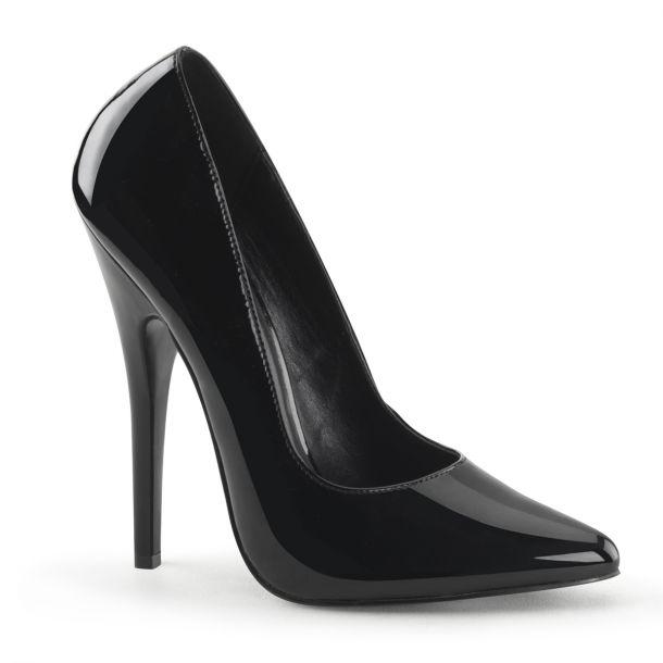 Extrem High Heels DOMINA-420 : Lack Schwarz*