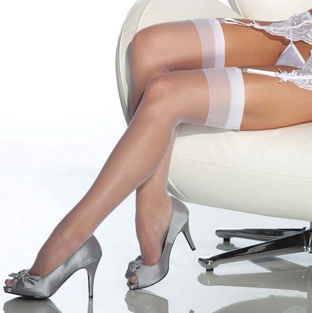 Strapsstrümpfe - Weiß