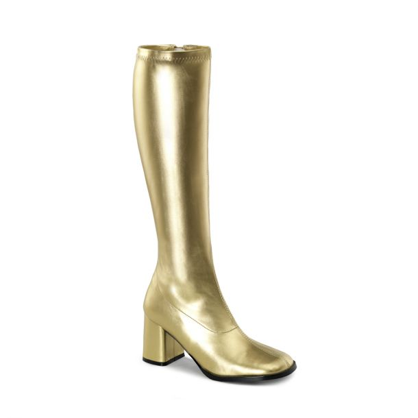 Retro Stiefel GOGO-300 : PU Gold*