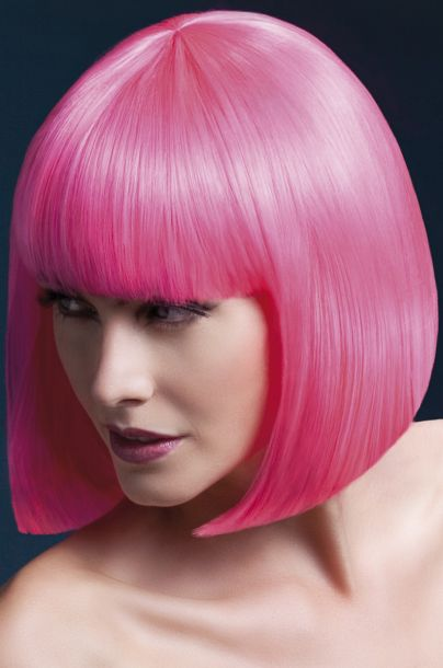Bob Perücke ELISE, halblang - Neon Pink