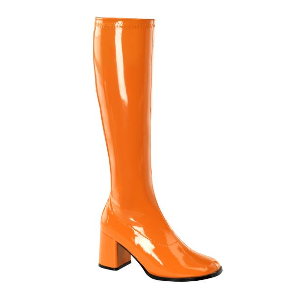 Retro Stiefel GOGO-300 - Lack Orange