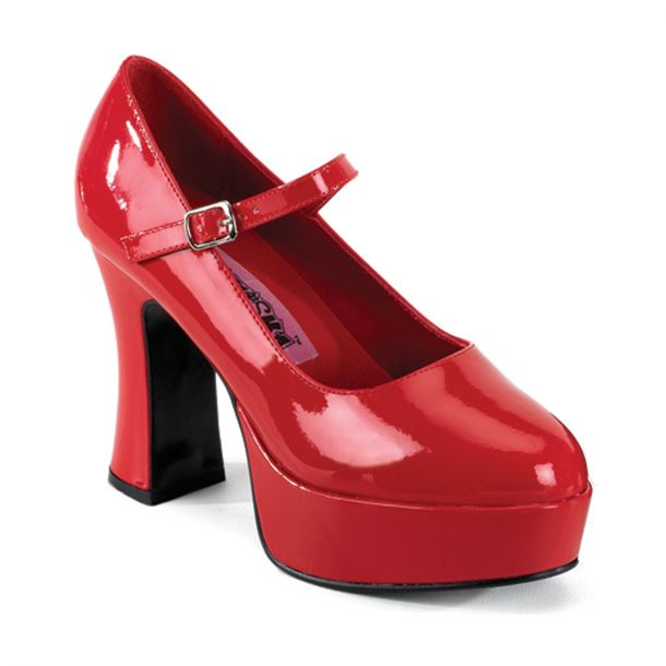 Retro Plateau Pumps MARYJANE-50 - Rot