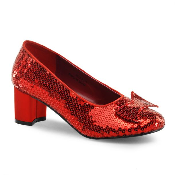 Pailletten Pumps DOROTHY-01 : Rot*