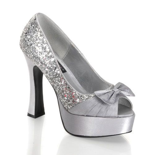 Plateau Pumps PARTY-42   Silber, Pleaser fdf8004b08