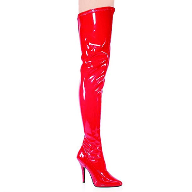 Overknee Stiefel SEDUCE-3000 - Lack Rot