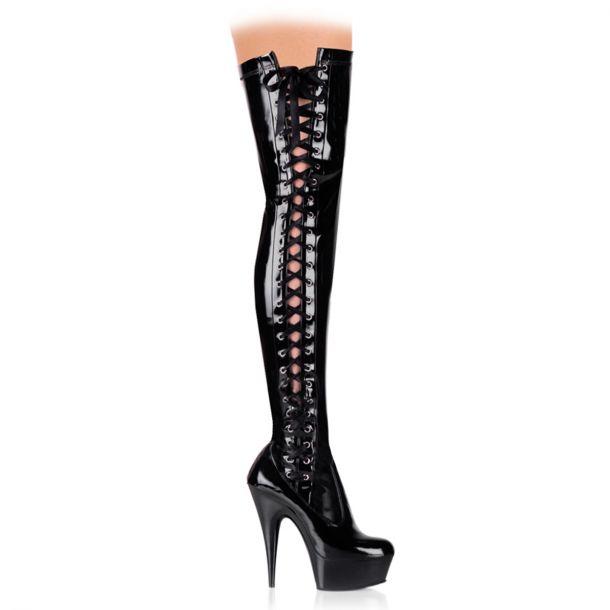 Overknee Stiefel DELIGHT-3050 - Lack