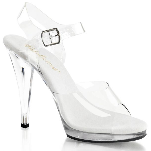 Sandalette FLAIR-408 - Klar/Weiß