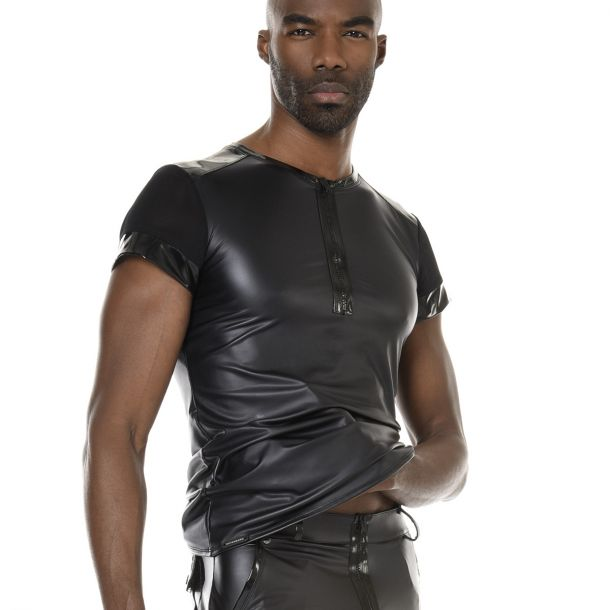 Wetlook T-Shirt TOM - Schwarz