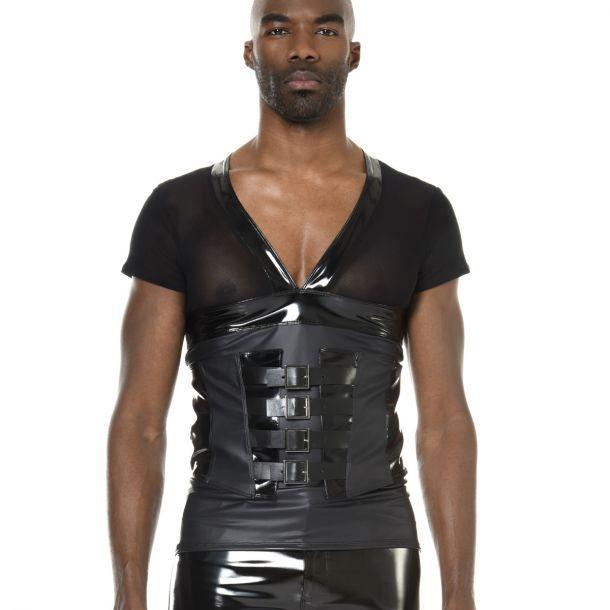 V-Neck Shirt JORDAN - Schwarz*