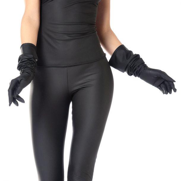 Lange Neopren Handschuhe - Schwarz