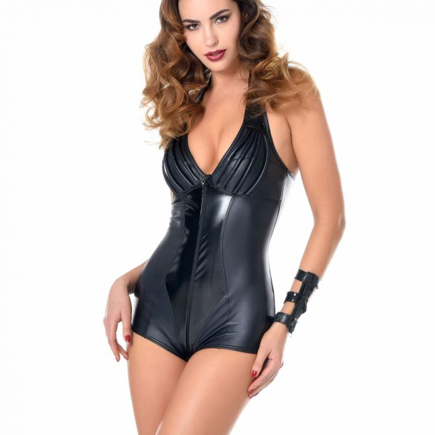 RUBY Wetlook Neckholder-Bodysuit*