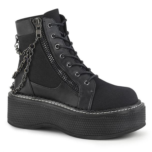 Plateau Ankle Boots EMILY-114 - Schwarz