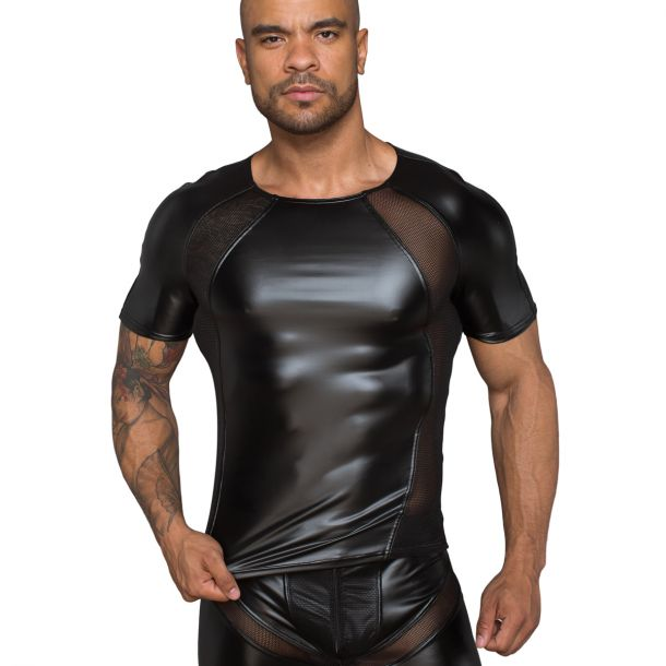 Power Wetlook T-Shirt H056 - Schwarz