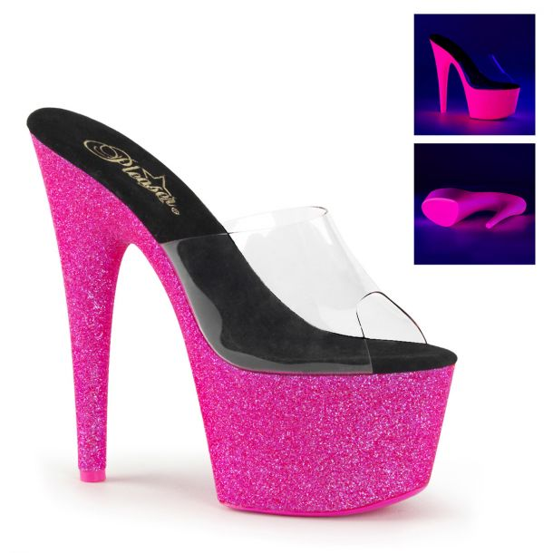 Plateau High Heels ADORE-701UVG - Neon Pink