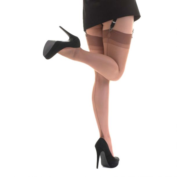 Point Heel Nahtnylons - Bronze*