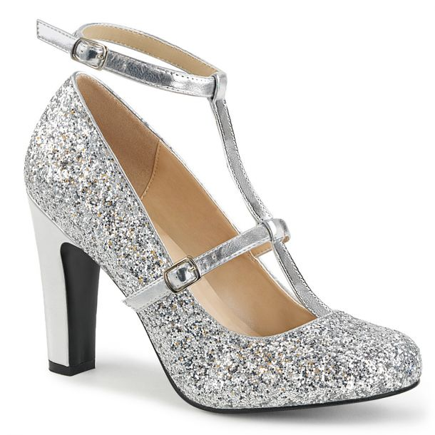Glitter Pumps QUEEN-01 - Silber