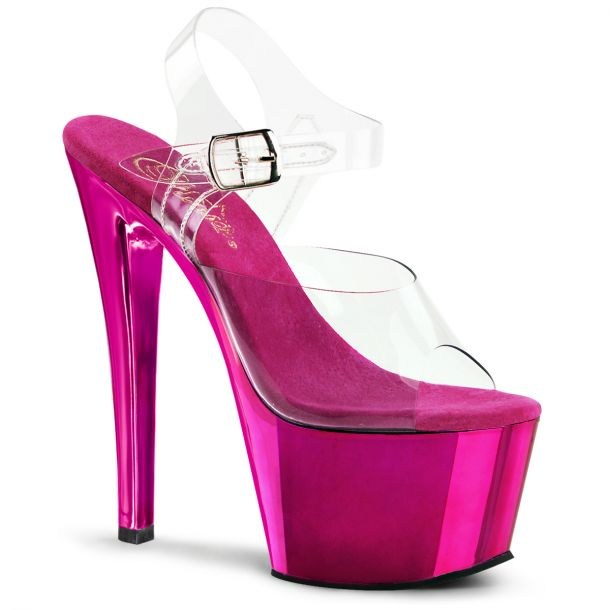 Plateau High Heels SKY-308 - Hot Pink Chrom