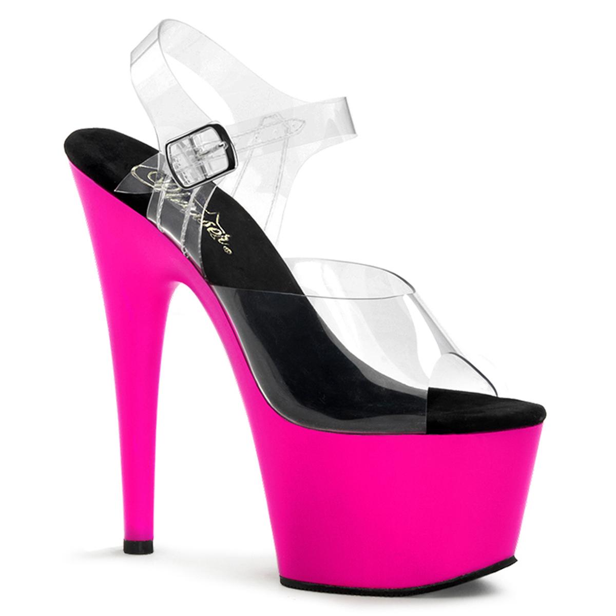 High 708uv Neon Plateau Adore Pink Heels W2EDIHY9