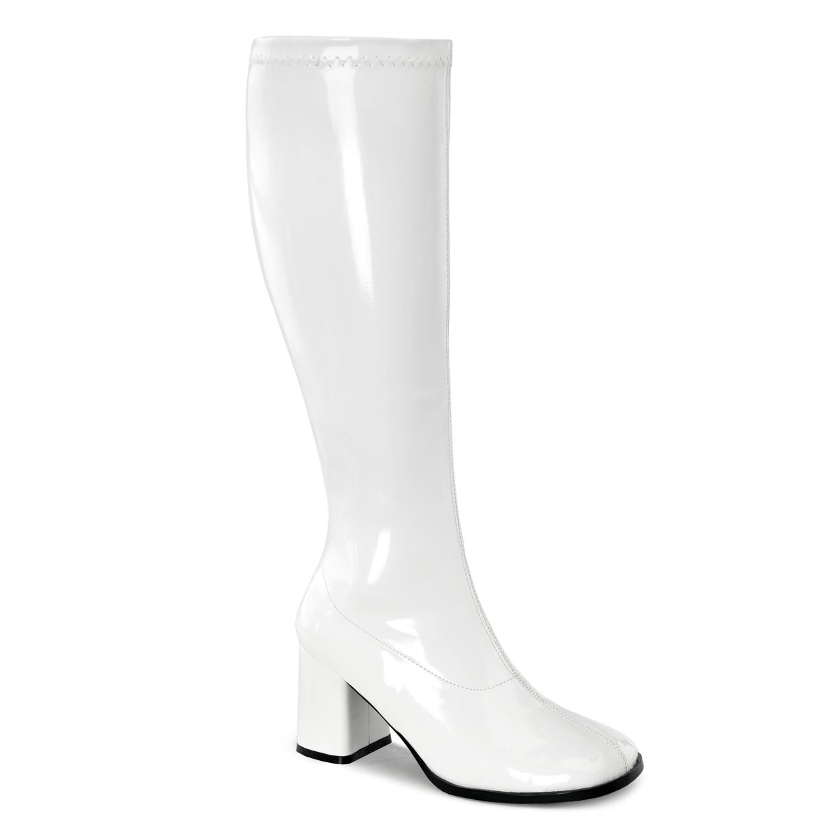 Funtasma Retro Stiefel RETRO-300 - Lack Weiß 46 EU 4stT1