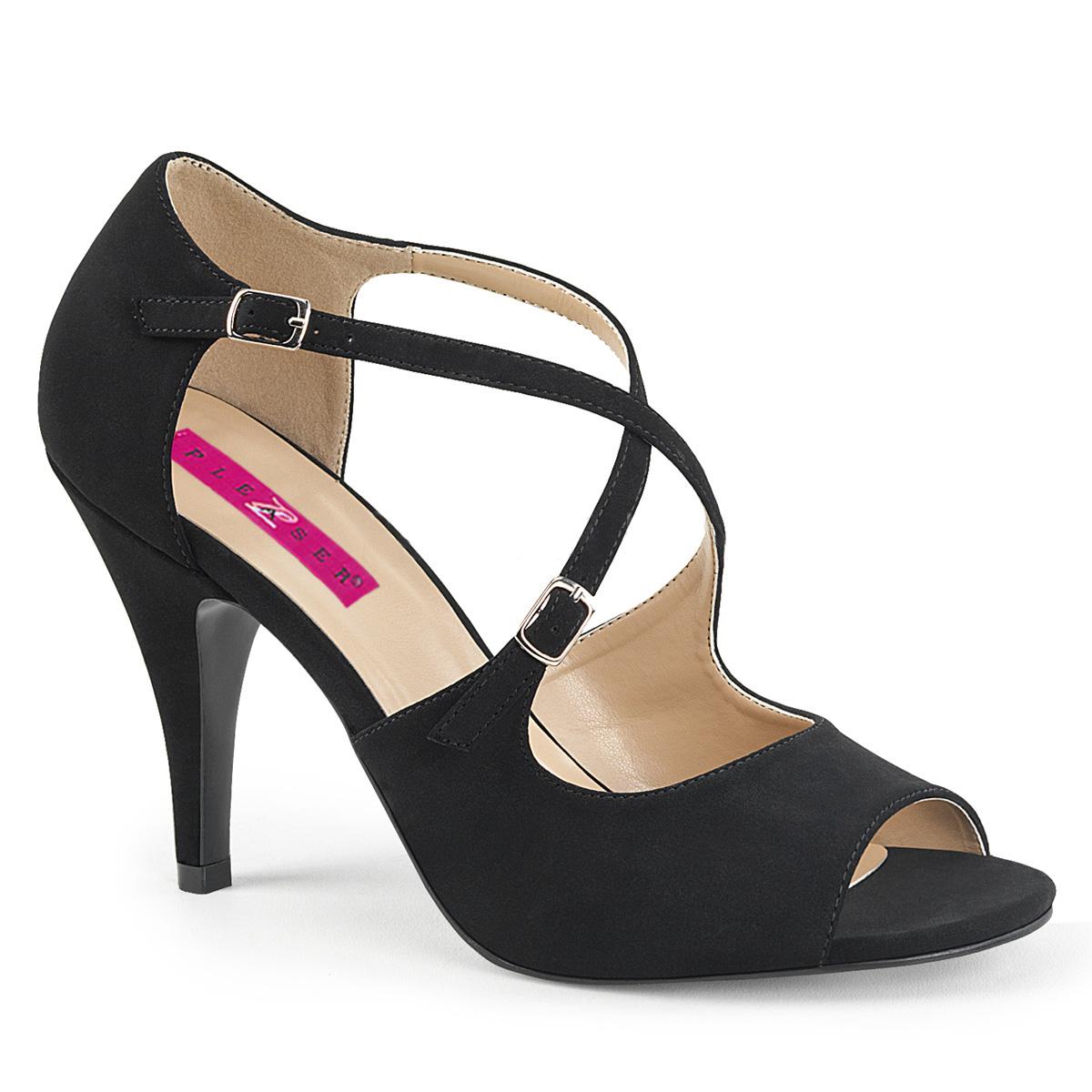 412 SchwarzPleaser Dream Sandalette Pink Label Peeptoe exBoCd