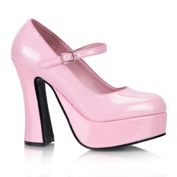 Plateau Pumps DOLLY-50 : Lack Baby Pink*