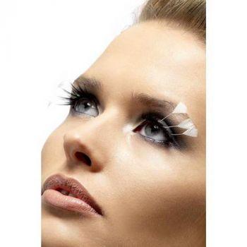 Augenwimpern mit weißen Federn*