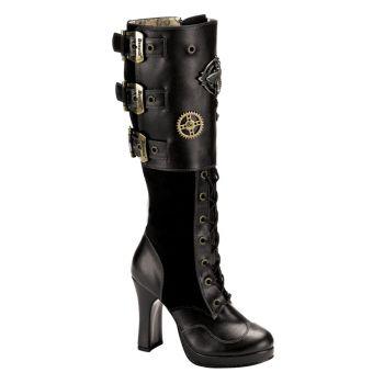 Gothic Stiefel CRYPTO-302 - Schwarz