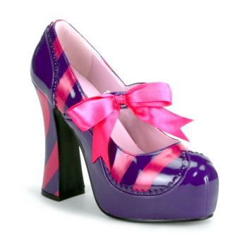 Plateau Pumps KITTY-32 - Lila/Hot Pink