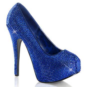 Strass High Heels TEEZE-06R - Royal Blue