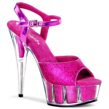Plateau High Heels DELIGHT-609-5G - Hot Pink*