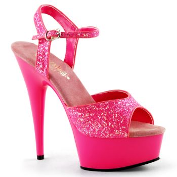 Plateau High Heels DELIGHT-609UVG - Hot Pink
