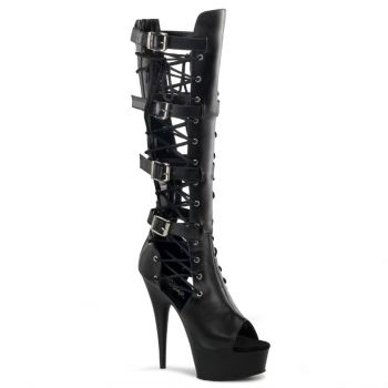 Plateau High Heels DELIGHT-699 - PU Schwarz