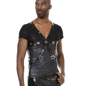V-Neck Shirt PEDRO - Schwarz*