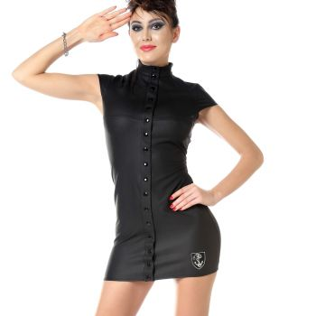 Pofreies Neopren Kleid NERINA - Schwarz