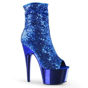 Pailletten Stiefelette ADORE-1008SQ - Blau