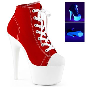 Canvas High Heel Sneakers ADORE-700SK-02 - Rot
