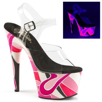 Plateau High Heels ADORE-708UVR - Neon Pink