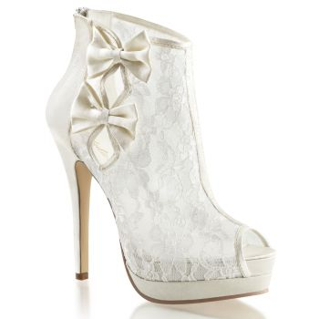 Plateau Ankle Boots BELLA-28 - Ivory*