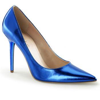 Stiletto Pumps CLASSIQUE-20 - PU Blau Metallic