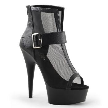 Plateau Ankle Boots DELIGHT-600-23 - Schwarz