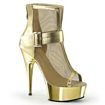 Plateau Ankle Boots DELIGHT-600-23 - Gold