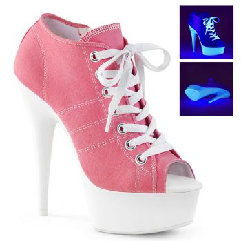 Canvas High Heel Sneakers DELIGHT-600SK-01 - Rosa