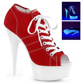 Canvas High Heel Sneakers DELIGHT-600SK-01 - Rot