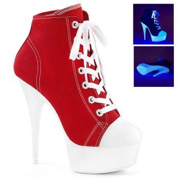 Canvas High Heel Sneakers DELIGHT-600SK-02 - Rot