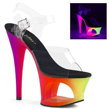 Plateau High Heels MOON-708UV - Neon Multi