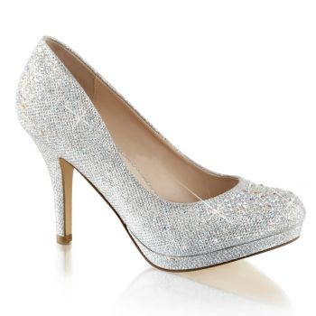 Pumps COVET-02 - Silber Glitter*