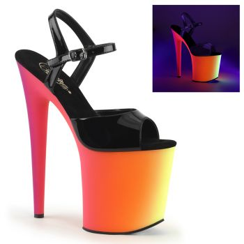 Plateau High Heels RAINBOW-809UV - Lack