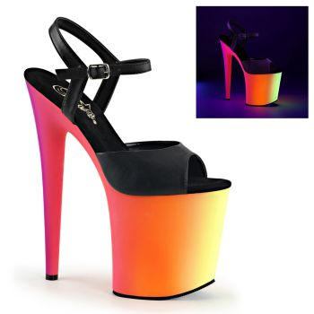 Plateau High Heels RAINBOW-809UV - Lederimitat