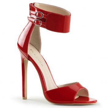 Stiletto Sandalette SEXY-19 - Lack Rot